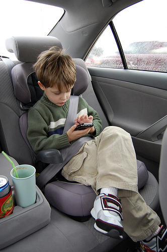 Smart kid and the smart phone